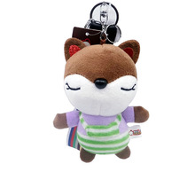 цены Creative Stuffed Plush Animal Fox Pendant Super Cute Doll Key Chain Bag Plush Hanging Baby Child Gift Mini Fox Children Toy