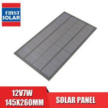 12V7W Pannello Solare Policristallino Silicio Standard Epossidica Fai da Te di Potenza Della Batteria Carica Modulo Cella Solare Mini