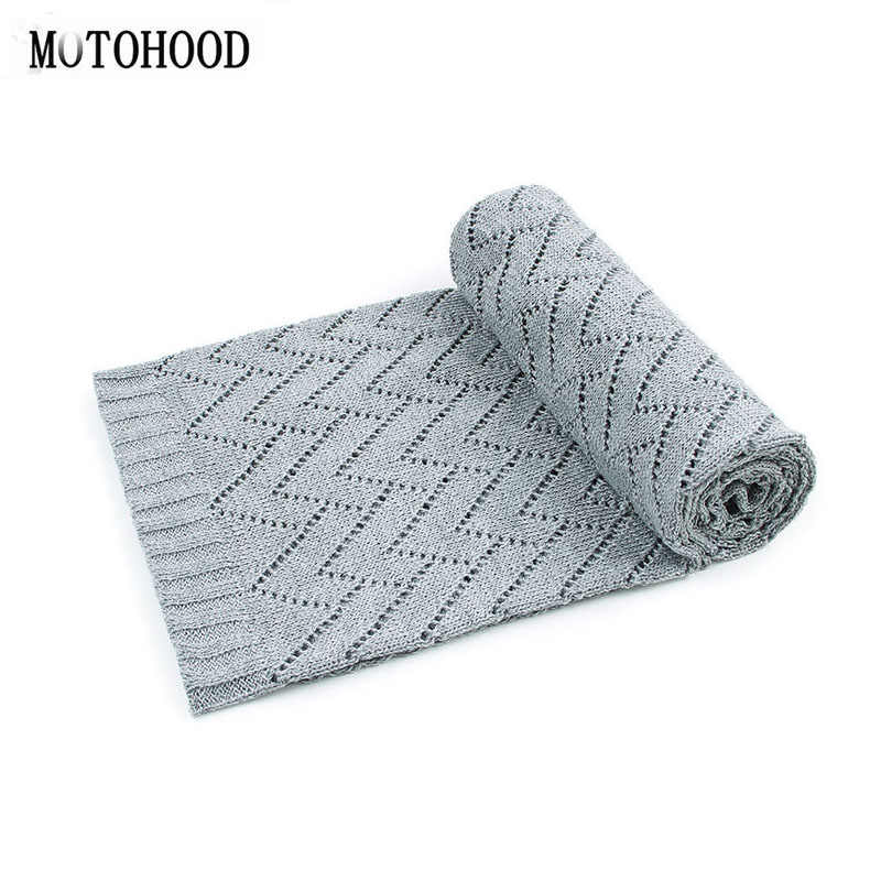 MOTOHOOD ニット新生児毛布子供毛布中空ソフトラップ幼児おくるみキルト幼児寝具寝袋