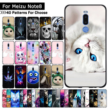 Case For Meizu Note 8 Colorful Patterned Soft TPU Silicone Ultra-thin Protective cases Back phone shell covers fundas coque capa