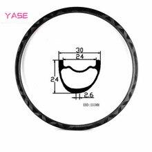 YASE 27,5 er XC 300+/-15 г углеродный mtb диск обода бант внешний вид 30x24 мм Асимметричный бескамерный велосипед колеса углерода mtb диски