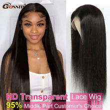 Glueless Straight Lace Front Wig Bone Straight Human Hair Wigs For Women Transparent Lace Frontal Wig Human Hair T Part Wig Remy