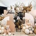 189 шт. шоколадно-коричневый шар гирлянды Свадебные украшения Baby Shower День рождения Декор в два раза Румяна телесного цвета загар клипсы для в...