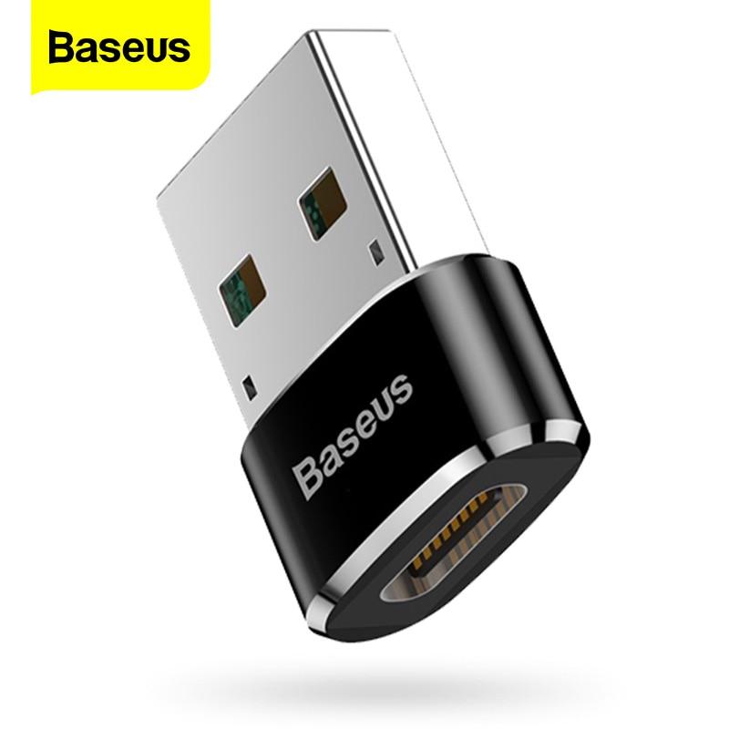 Baseus USB a USB tipo C adaptador de OTG USB-C convertidor Adaptador tipo-c para Samsung S10 Xiaomi mi 9t Oneplus 7 6t conector USB OTG Universal 3 en 1 tipo OTG-C lector de tarjetas USB 3,0 USB Hub Micro USB Combo a 2 ranura TF SD tipo C lector de tarjetas para teléfonos inteligentes PC