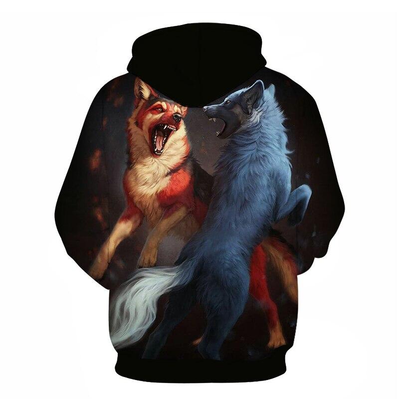 Wolf Printed Women 3d Hoodies Brand Sweatshirts Girl Boy Jackets Pullover Fashion Tracksuits Animal Streetwear Lovers Sweatshirt 90