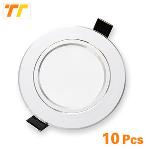 Image 1 - 10pcs/lot led downlight 18W 15W 12W 9W 7W 5W 3W 220V / 110V ceiling lamp recessed downlights round led panel light free shipping
