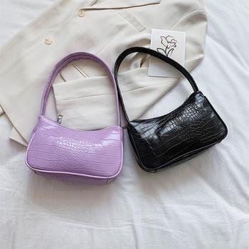 Retro ramenska torba vintage torbica hobos torba za ženske PU usnjena ženska baguette torba subaxillary