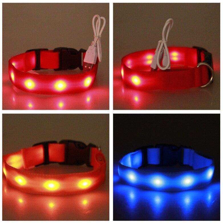 LED Strip Pet Dog Collar Multi-color Shining Dog Collar Dog Neck Ring Yuan Si Pet Supplies