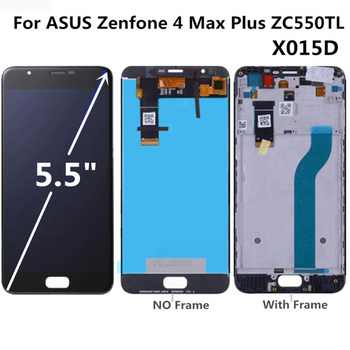 For ASUS Zenfone 4 Max Plus ZC550TL X015D LCD display+Touch screen Digitizer Assembly for phone  Asus ZC550TL LCD original 5 2 for asus zenfone 3 max zc520tl x008d lcd display touch screen digitizer assembly with frame for asus zc520tl lcd