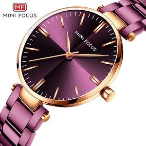 Image 1 - Mini focus 유명 브랜드 쿼츠 시계 reloj mujer 럭셔리 여성 패션 캐주얼 시계 stainles 스틸 레이디 아날로그 시계 방수