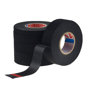 Image 3 - 1pc Heat resistant Wiring Harness Tape Looms Wiring Harness Cloth Fabric Tape Adhesive Cable Protection 19mm x 15M