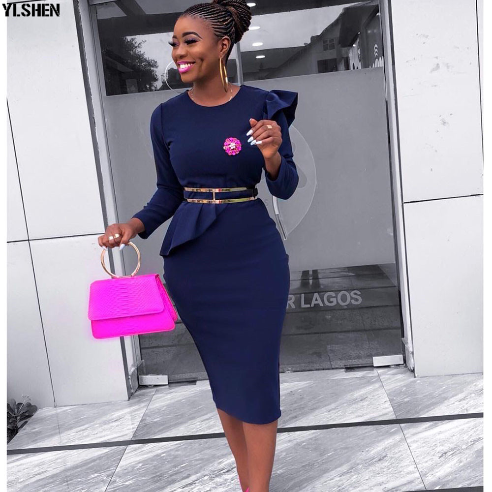 African Style Dresses For Women 2019 Africa Clothing Summer Elegant Ankara Dresses Super Elastic Fashion African Dress For Lady