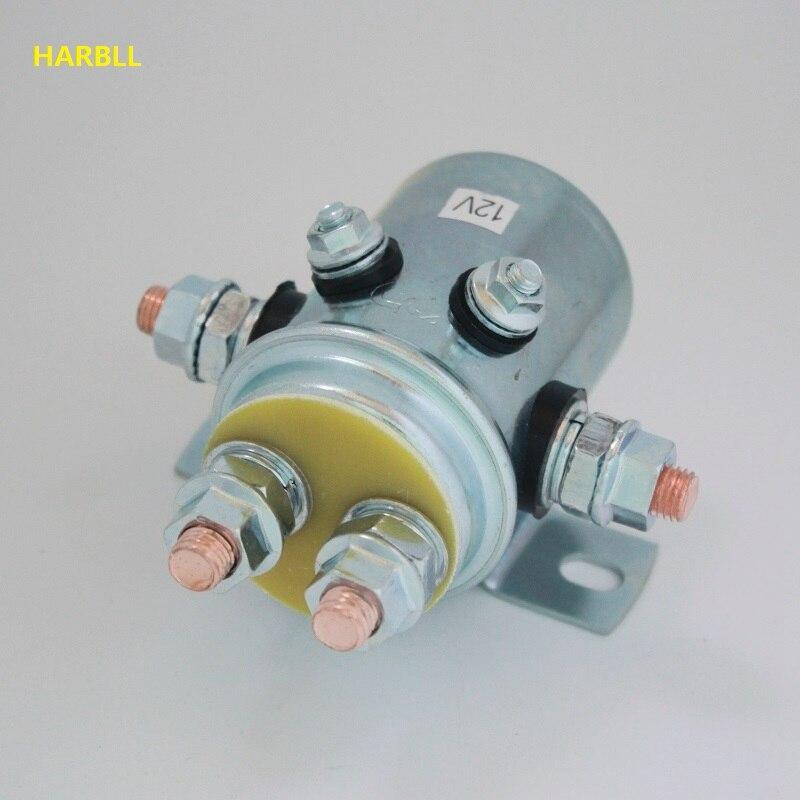 Harbll 2 pces 12 volts 6 interruptor de relé solenoide resistente terminal para aplicações do guincho & carrinho de golfe do dever contínuo