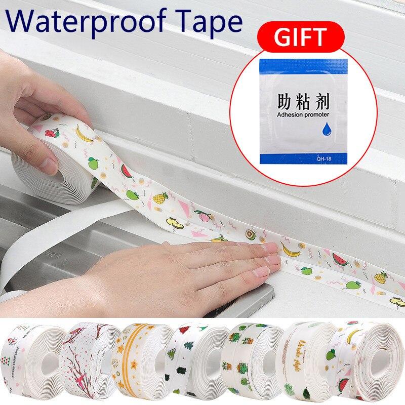 Герметичная лента для ванной, 3,2 м, герметичная лента для ванной, самоклеящаяся белая пленка из ПВХ для защиты краев кухни и ванной комнаты