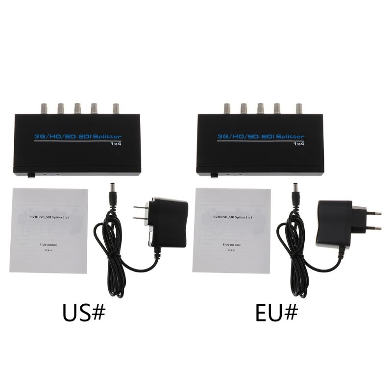 NK-S114 3G/HD/SD/SDI 1x4 Splitter Video Switch Switcher For DVD HDTV Xbox Device Accessories D08A
