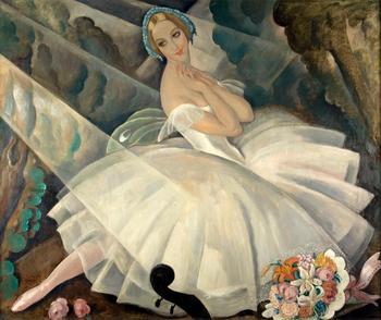 9 Handmade Gerda Wegener Oil Paintings by Teachers - The Ballerina Ulla Poulsen in Ballet Chopiniana - Danish Girl Art on Canvas image