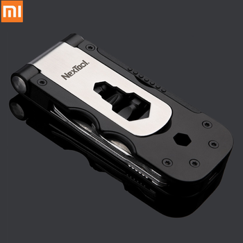 Original xiaomi Mijia NexTool Multi-functional Bicycle Repair Tool Mini Pocket Bike Toolbox Outdoor Wrench Magnetic Sleeve Tool image