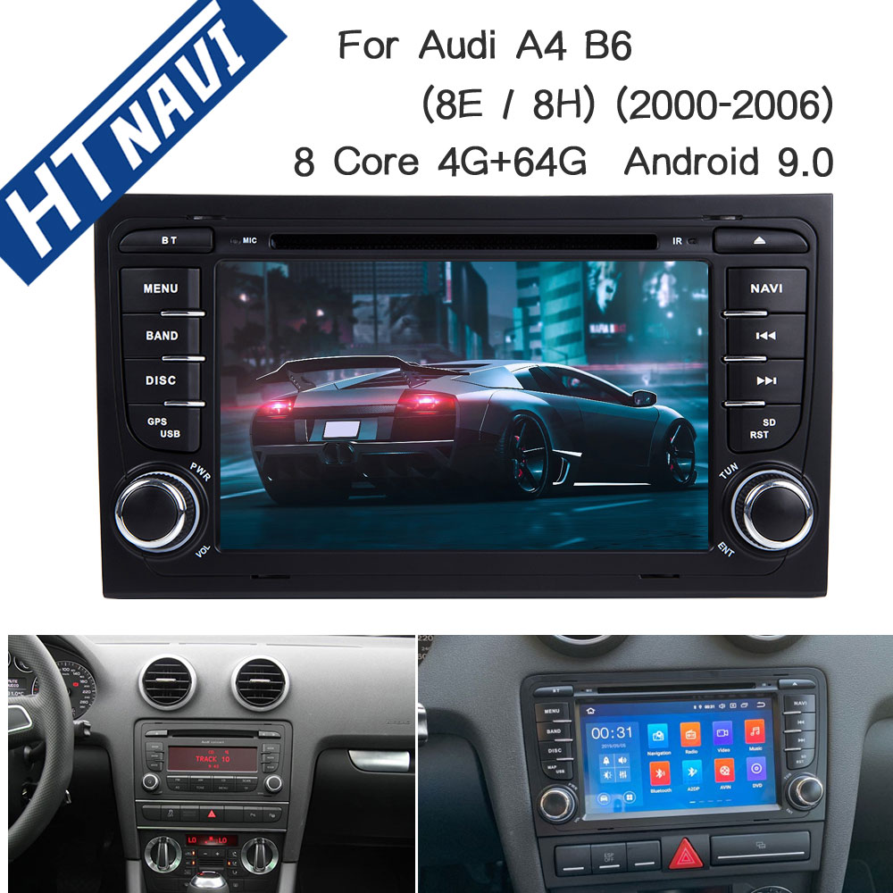 8 Core Android 9.0 Car <font><b>Multimedia</b></font> Player Navigation 2 Din Car Radio Stereo DVD For <font><b>Audi</b></font> <font><b>A4</b></font> <font><b>B6</b></font> 2000 2001 2002 2003 2004 2005 2006 image