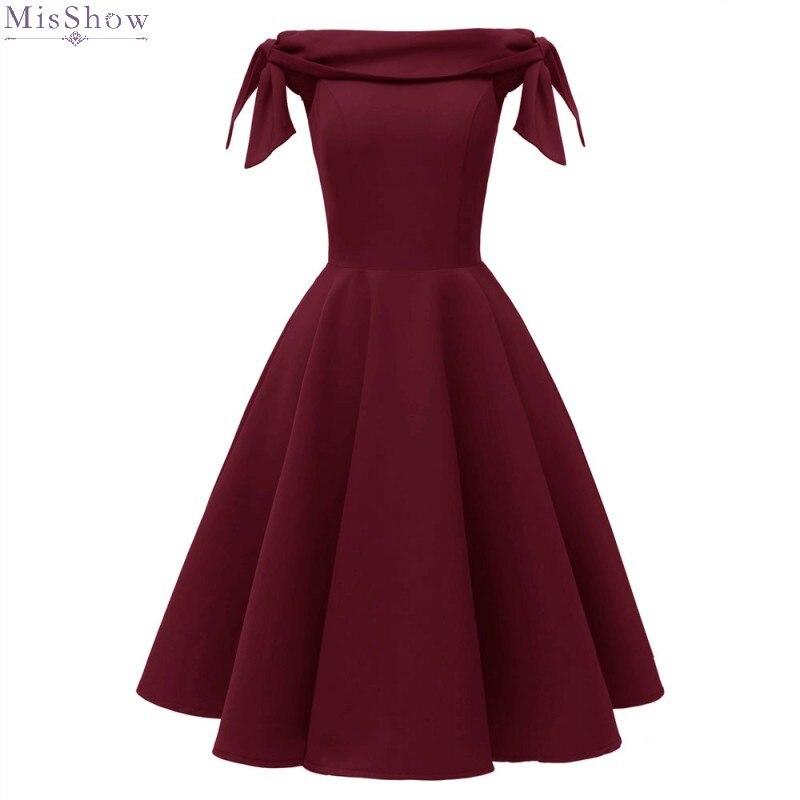 Evening Dress 2019 A line Elegant Short Formal Gown A line Off The Shoulder Sleeveless robe de soiree