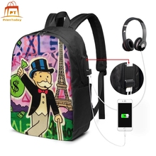 Monopoly Alec Backpack Monopoly Alec Backpacks Teen Sports Bag Trending Print High quality Multi Pocket Bags alec baldwin