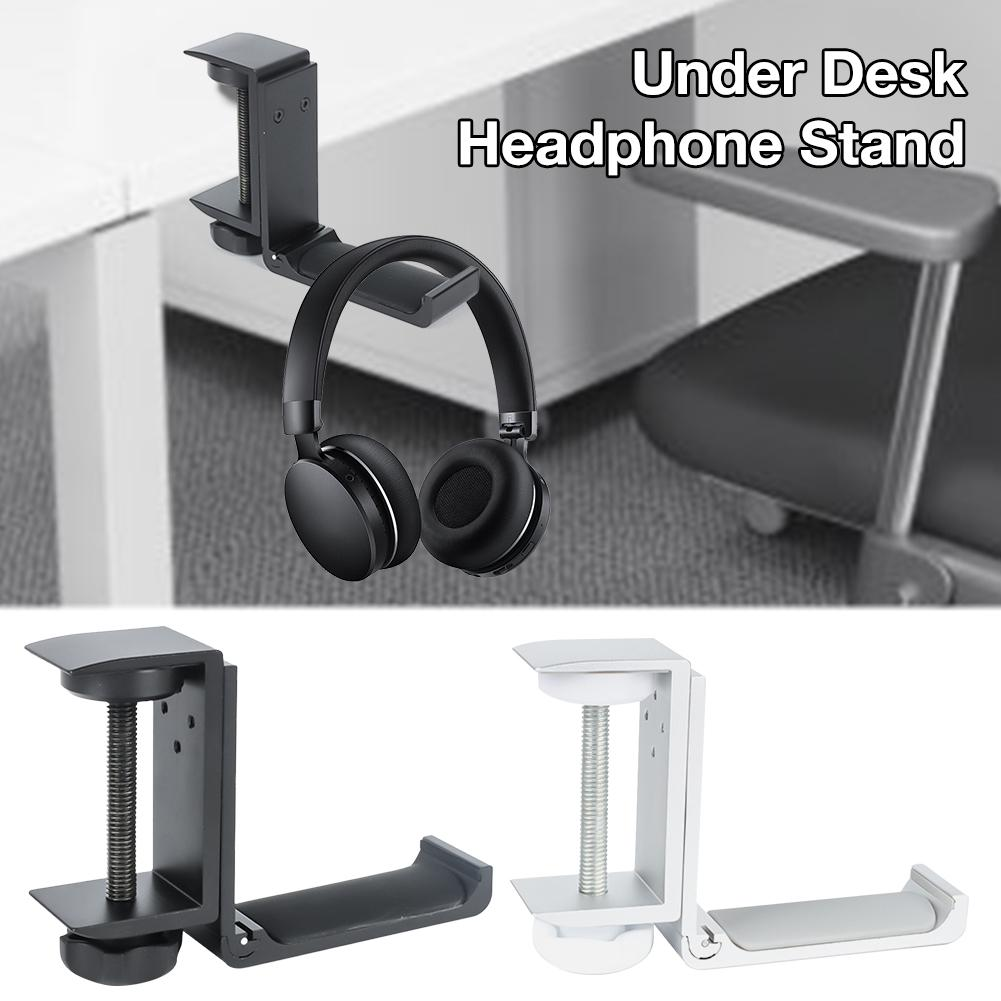 Under Desk Headphone Stand Gaming Headset Hanger Universal Metal Earphone Holder Hook With Adjustable Clamp For Headsets Umbrell