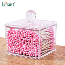 Acrylic cosmetic storage box transparent cotton swab jewelry makeupup drawers