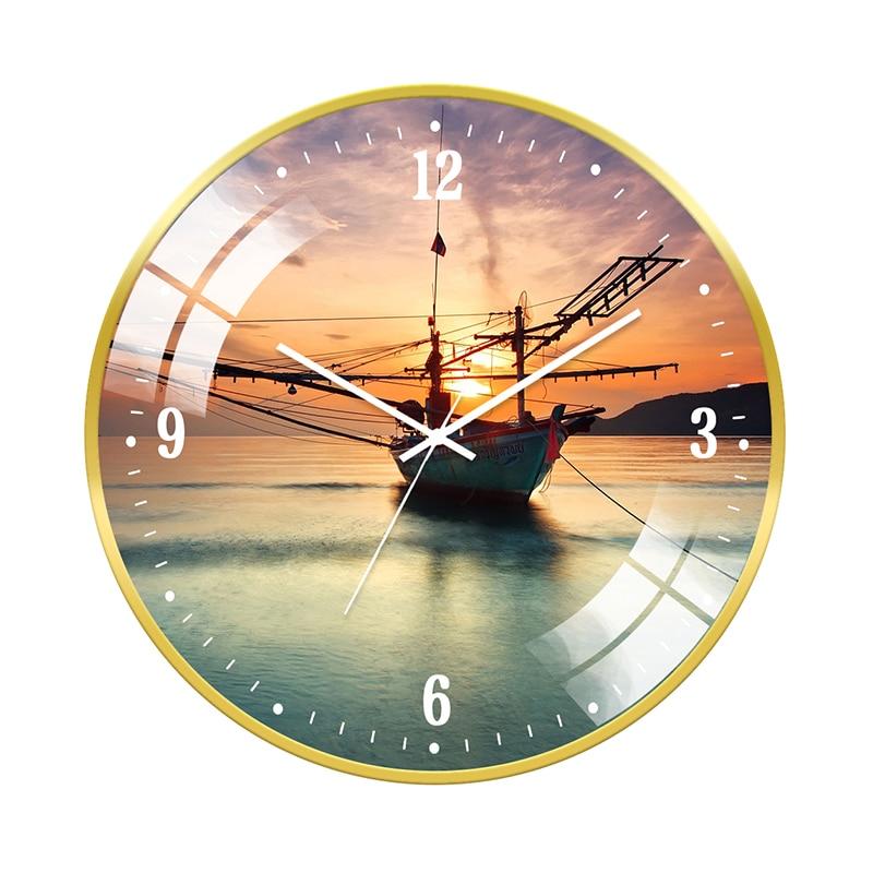 Nordic Minimalist Wall Clock Silent Circular Mute Wall Clock Vogue Orologio Da Parete Stylish Art Decoration New Hot 2019 SS60WC