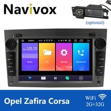 Navivox 2 Din Android 10.0 Opel Dvd Gps Auto Radio Speler Voor Opel Astra J Zafira B Astra G Corsa D Vivaro Vectra B Meriva Dvd