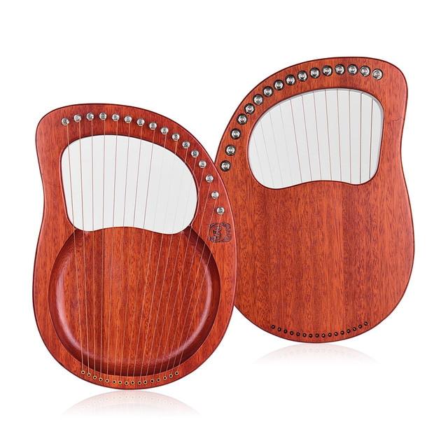 Walter. T Lier 16 String Houten Lier Harp Metalen Snaren Mahonie Massief Hout String Instrument Met Draagtas Stemsleutel
