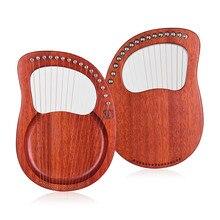 ウォルター。t竪琴16ストリング木製竪琴ハープ金属弦マホガニー木製弦楽器とキャリーバッグチューニングレンチ