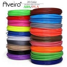 Original 20Pieces/lot 3D Printer Filament 5M/10 Meter/pcs 20 Colors 1.75mm PLA ABS Print For Or Pen