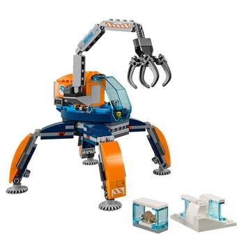 200PCS Arctic Ice Crawler Building Blocks Bricks Compatible City 60192 Toys for Children Christmas Gift