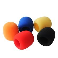 Bolymic 5 paquets de couleurs assorties de qualité Microphone en mousse pare brise pour Shure sm58 microfoon