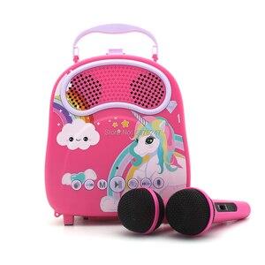 Crianças karaoke máquina com trocador de voz para meninas crianças
