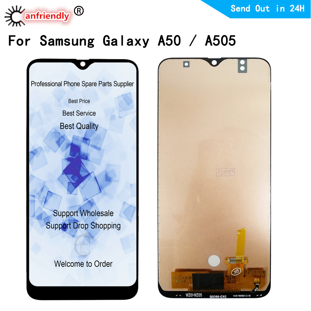 LCD Display For <font><b>Samsung</b></font> Galaxy A50 SM-A505F A505FN A505GN A505FM A505YN A505W LCD display Screen Touch panel Digitizer Assembly image
