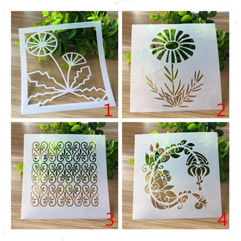 Embossed Flower Stencils Painting And Decoration Scrapbooking Photo Album Decorative Embossing Wall Stencil Journal Stencils