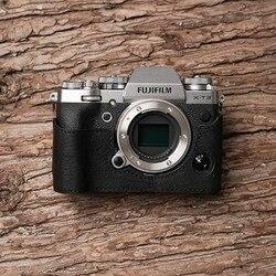 Mr. Stone marka Handmade prawdziwy skórzany futerał do aparatu torba pół kamera noszona na ciele do Fujifilm XT3 FUJI X-T3