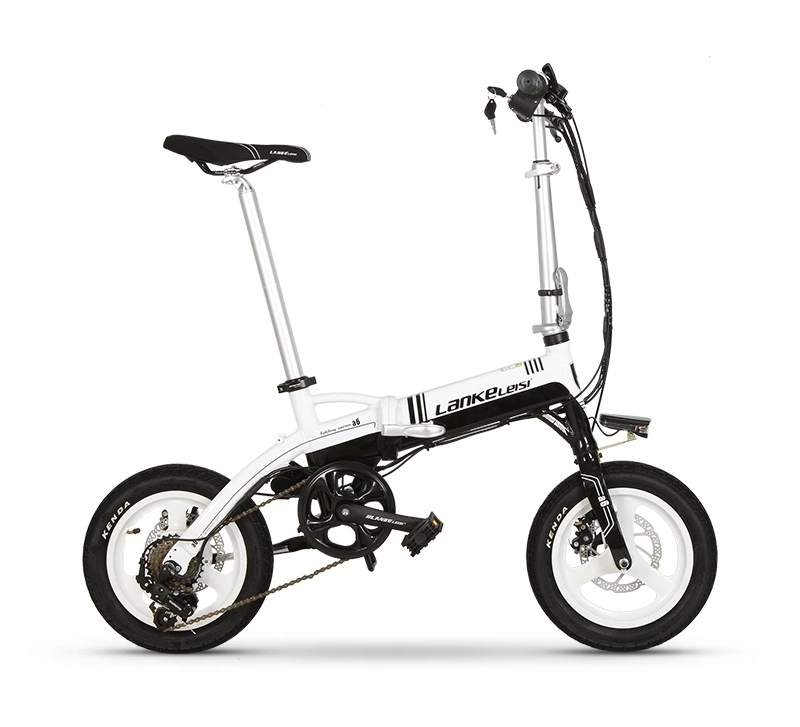 "A6 EU Quality Level 14"" inch portable Folding Electric Mini Bicycle Adjustable  for Cycling with LG Lithium Battery 2"