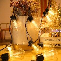 Светодиодный светильник Сказочный s наружный садовый водонепроницаемый светильник гирлянда для спальни гостиной Рождественская гирлянда ...