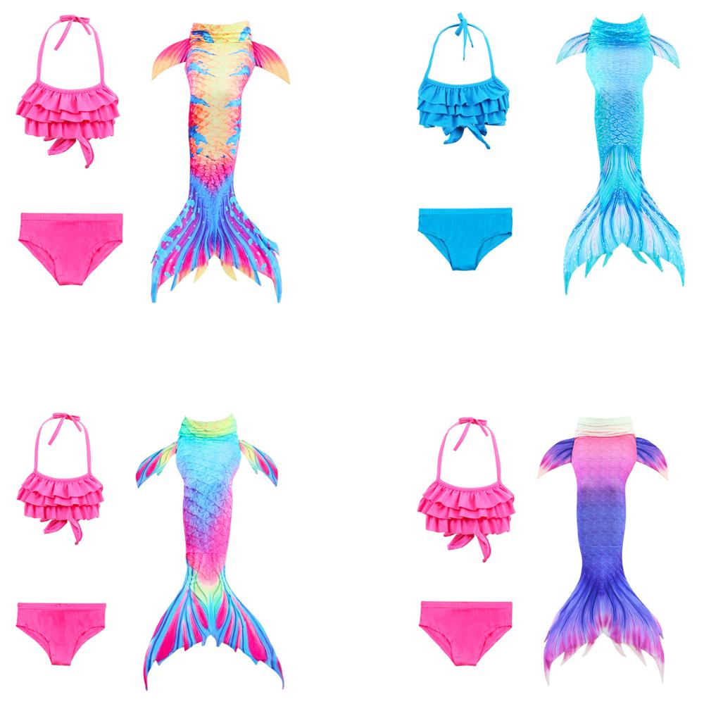 2019 New Mermaid Tail Kids Swimsuit Mermaid Bikini Cosplay Costume for Girls