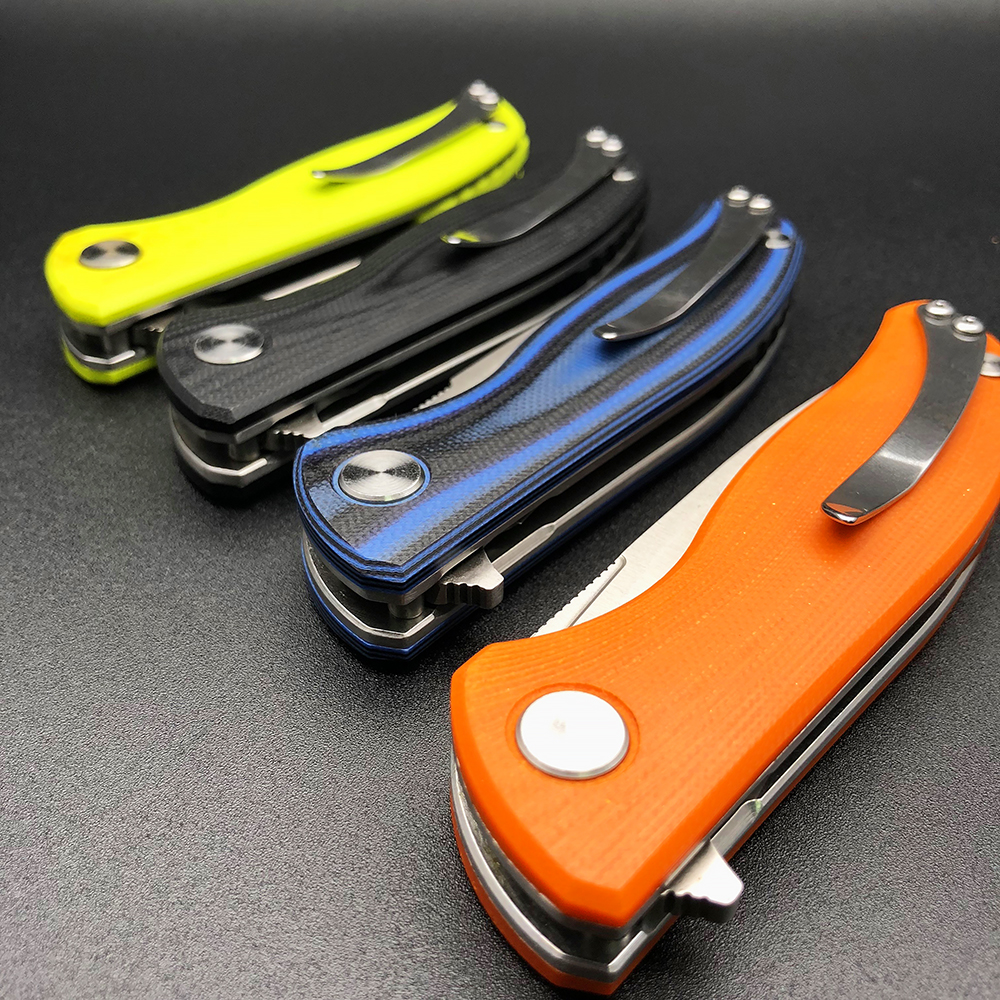 BMT Bear F3 Folding Knife Flipper Combat Outdoor Pocket G10 Knives Hunting Tactical Survival Camping EDC Rescue Multi Tools