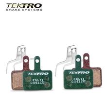 TEKTRO pastillas de freno E10.11 para bicicleta de montaña, freno de disco de bicicleta almohadillas plegables para shimano MT200/M355/M395/M415/M285/M286/M280