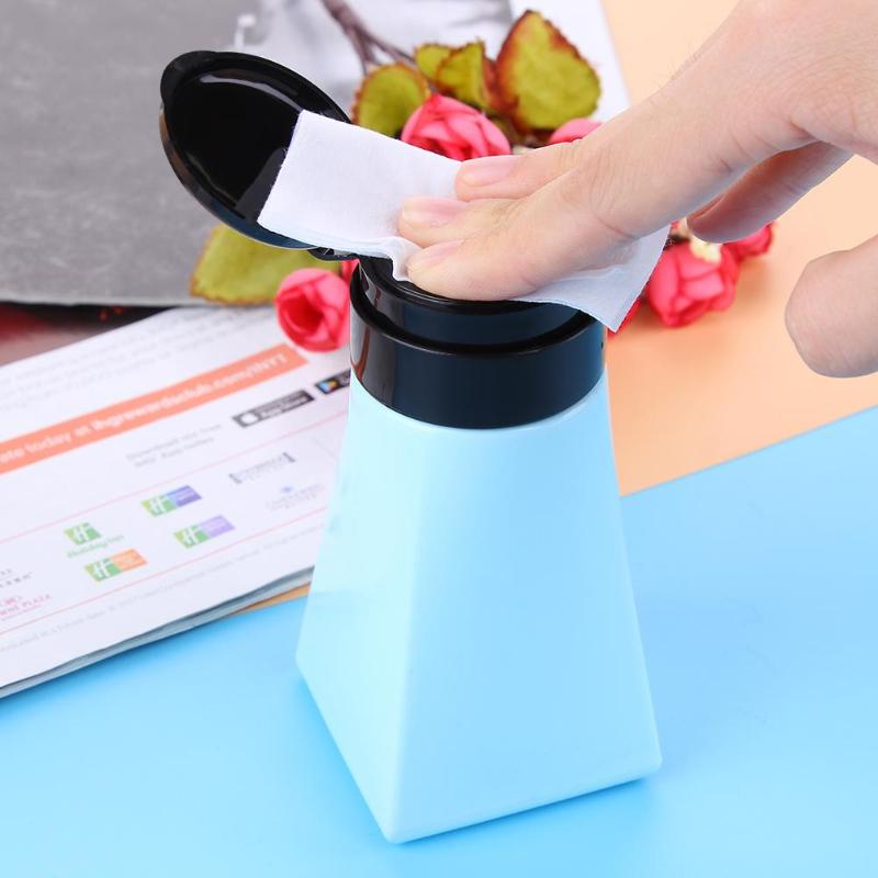Cute Mini 220ml Refillable Bottle Small Simple Empty Bottles Nail Pump Press Polish Liquid Container Makeup Liquid Cosmetic Jar