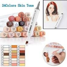 Маркеры touchten12/24 цветов сменные художественные маркеры