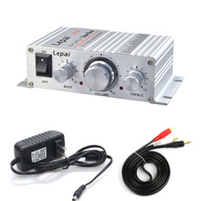 Amplifiers Audio-Cable Power-Adapter 2x15w Treble Stereo Lepy Class-Ab with And 2x15w/Mini/Stereo/..
