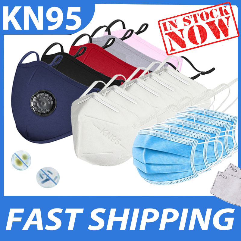 Washable Respirator Mouth-muffle + FFP2 KN95 Mask + Disposable Face Mask + PM2.5 Filter Pad Anti Dust Breathable Mouth Mask Set