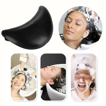 Champú negro para salón, almohada para cabeza, descanso del cuello, champú de silicona suave, cojín Bol lavabo para lavar el cabello, lavabo, accesorios de peluquería