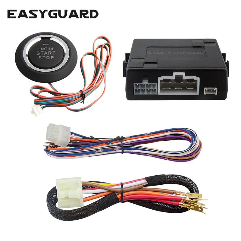 EASYGUARD Universal Push Button Start System With Auto Starter For Automatic Shift Car, Can Work With Keyless Entry SystemDC12V