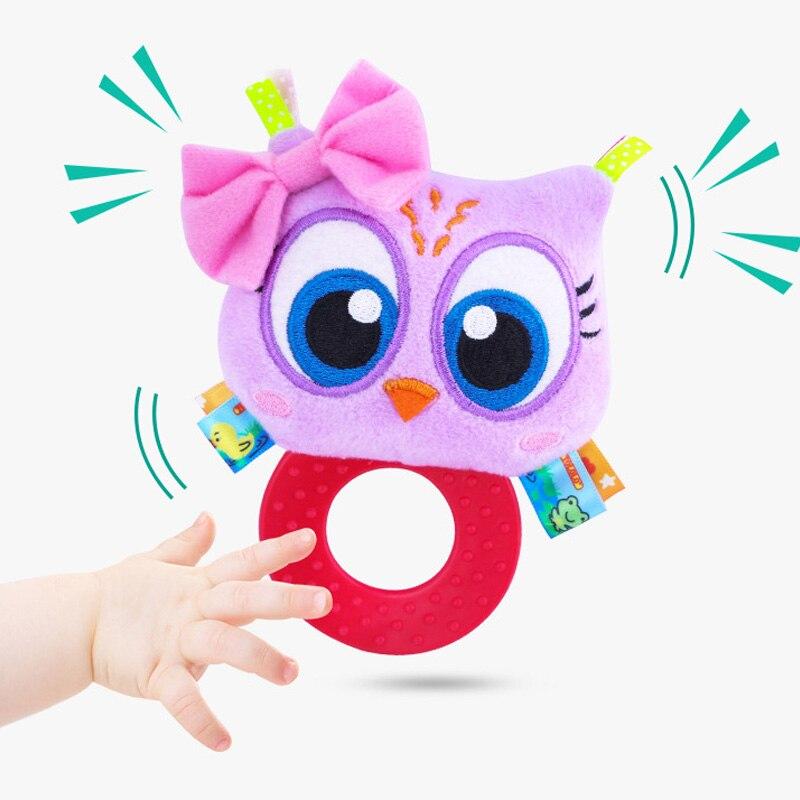 Детская плюшевая погремушка для новорожденных; Колокольчик для новорожденных; подарок для девочек; милая игрушка; кольцо для мальчиков;