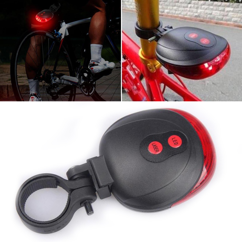 1Pcs Bicycle Bike Rear Light Laser Safety Warning Cycling Parts Accessories